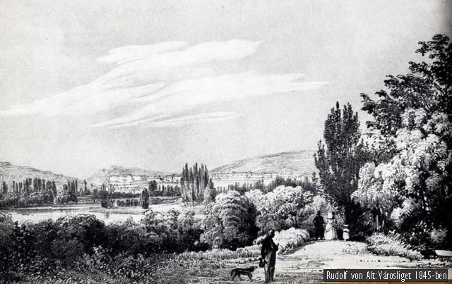 rudolf_von_alt Városliget 1845-ben
