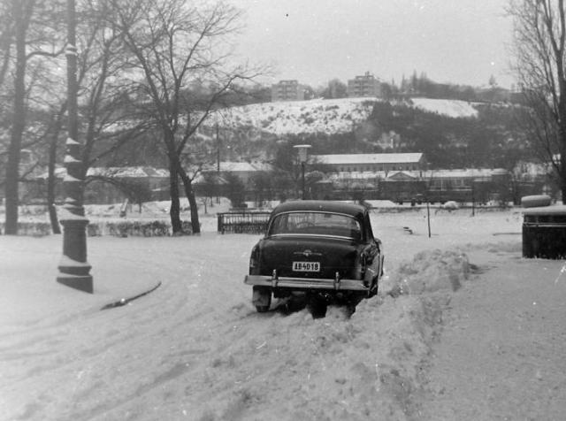 Sportuszodától budai Dunapart Császárfürdővel és Rózsdombbal 1960 k-Fortepan 14445