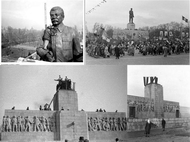 Sztálin szobor montázs