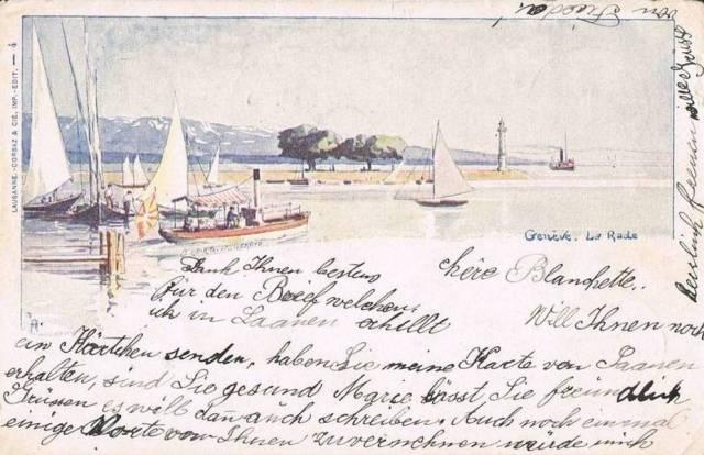 1904. Litográfia, La Rade