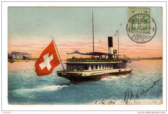 338_001 sortie de la rade (1906) cpa suisse