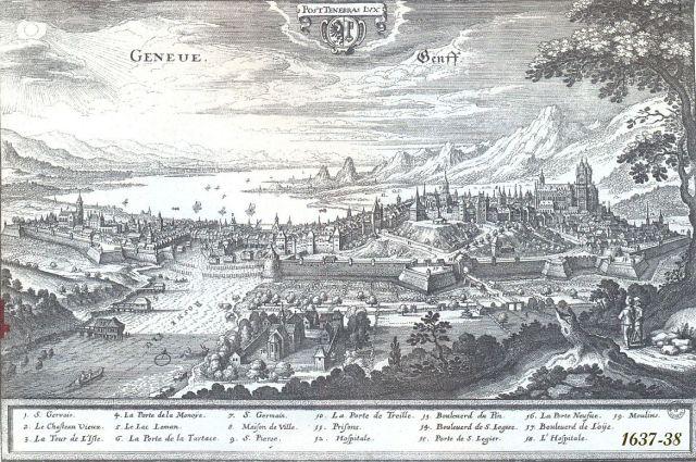 Genf erődítményrendszerei 1637-38