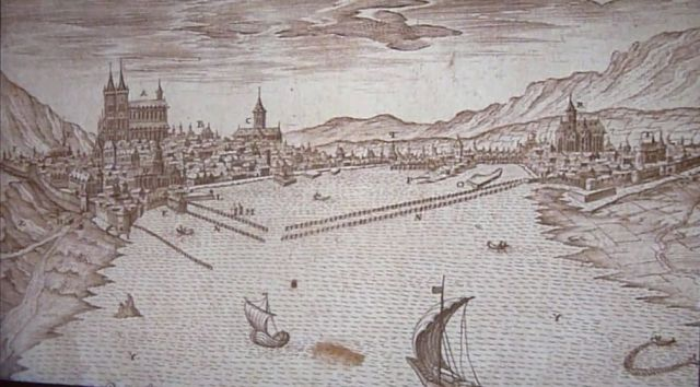 Genf kikötő erődítése