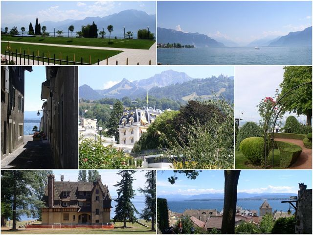 Genfi tó luxus, üdülés - kollázs