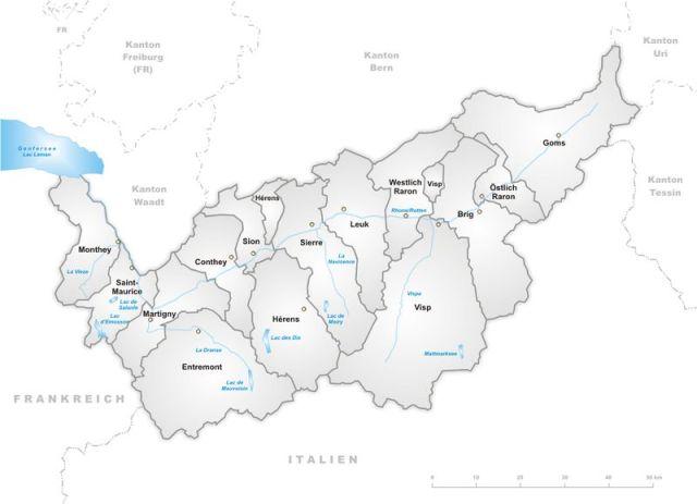 Kanton_Wallis_Bezirke - Rhone