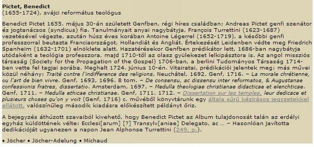 Pictet, Benedict
