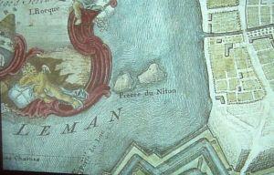 Pierre du Niton, korabeli térképen