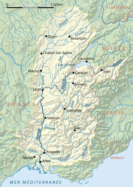 Rhône folyása