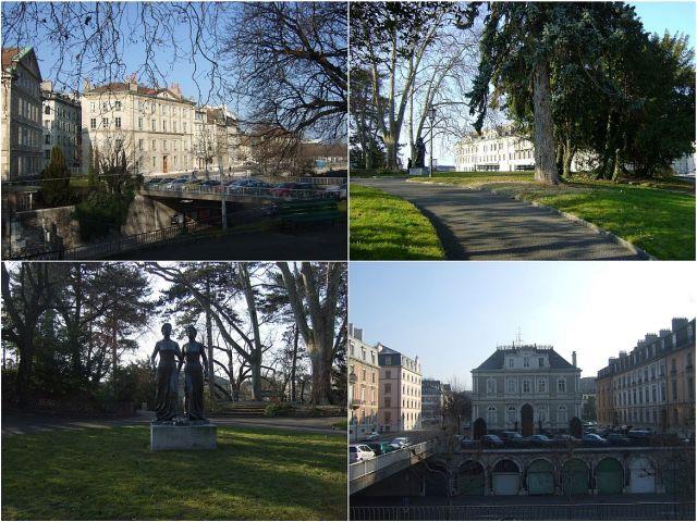 Genf, Prom du Pin és híd