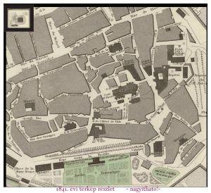 Genf térkép részlet1841 - város DK-i sarka