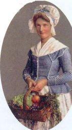 Jeune paysanne genevoise -postcard