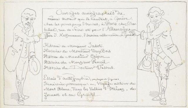 Töpffer autobiografikus bemutatása könyve előlapján