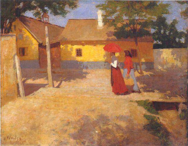 Fényes Adolf Kisvárosi délelőtt, 1904 -2