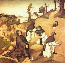 Jörg_Breu_id._Ciszterci szerzetesek mezőgazdasági munka közben (1500)