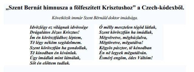 Szent Bernát himnusza a fölfeszített Krisztuszhoz - 1