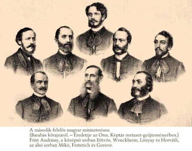 1867. évi felelős magyar kormány- Barabás kőrajzáról)