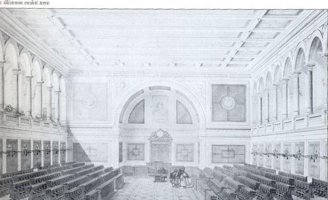 Az ülésterem eredeti terve