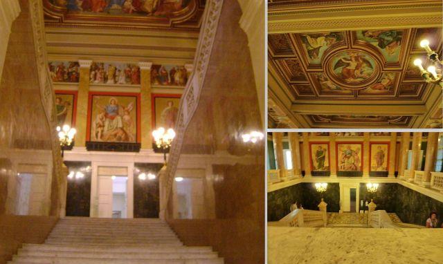 Múzeum lépcsőház-kollázs