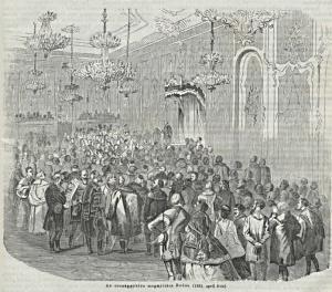Országgyűlés megnyitása a Budai királyi palotában 1861