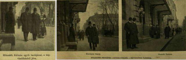 1901. Képviselőház előtt, montázs