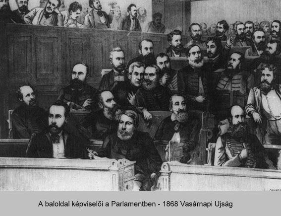 A baloldal képviselői a Parlamentben 1868 Vasárnapi Ujság
