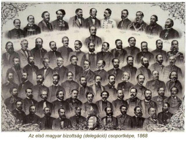 Első magyar bizottság-delegáció- csoportképe