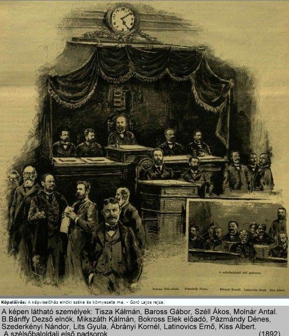 Képviselőház elnöki széke 1892 m