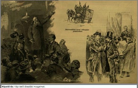 képviselőválasztások 1892 -Hermann Kőbányán, br. Kaas Ivor a Vigadóban