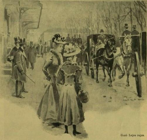 VU 1901. 138 a A Sándor utcaa Kéopviselőház előtt, rajz