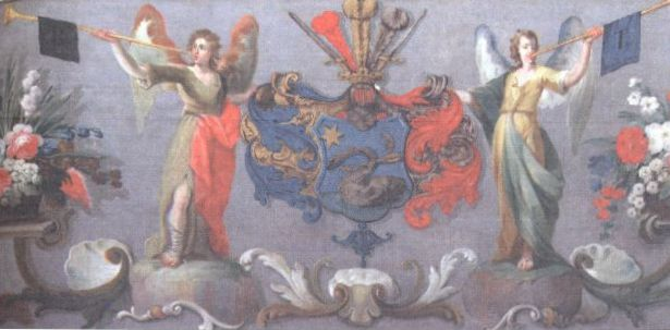 Beniczky címer a cinkotai katolikus templomban