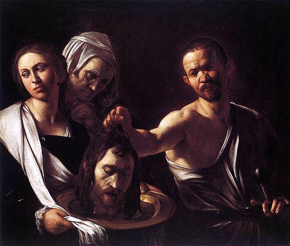 Caravaggio_Michelangelo_Merisi_da_-_Salome_with_the_Head_of_St_John_the_Baptist_-_London Nazional Gallery