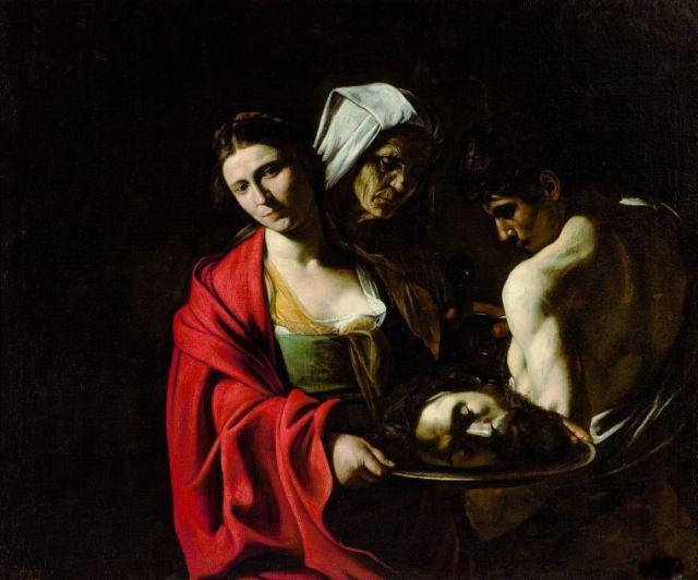 Caravaggio_Salome Keresztelő Szent János fejével, 1609-1610 k. Madrid, Palacio Real