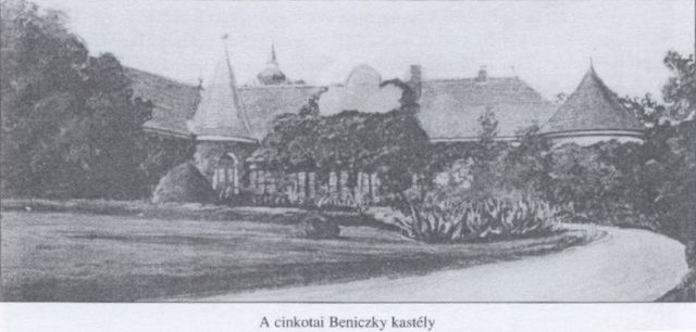 Cinkotai Beniczky kastély- rajz