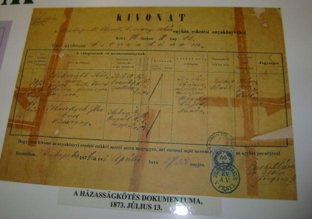 Ipolyság 0614 Mohora, házassági ak. 1873