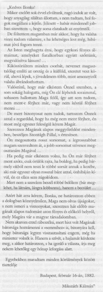 Mikszáth levele Mauks Ilonához 1882. febr.16.