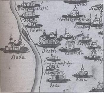Pongrácz féle térkép 1673 - részlet