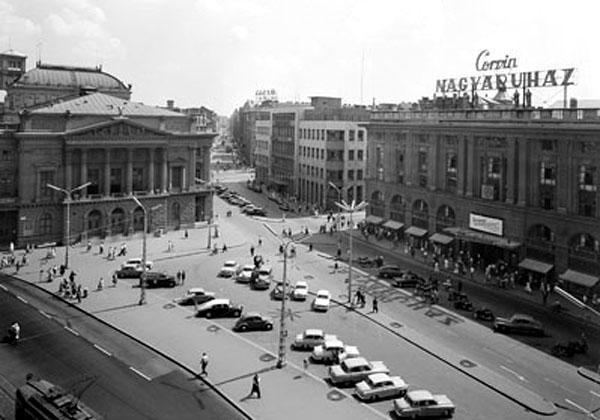 archív fotó, Corvin áruház, Nemzeti Színház