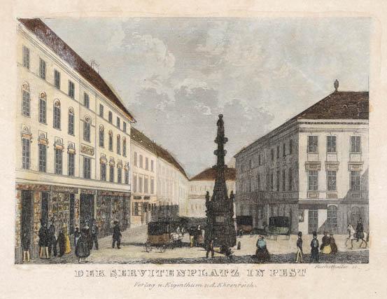 Fuchsthaller- Szervita tér 1840 körül