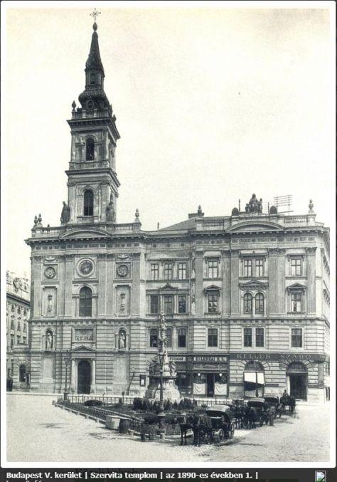 Szervita_tér_1890-es_évek,_Erdélyi_Mór_felvétele