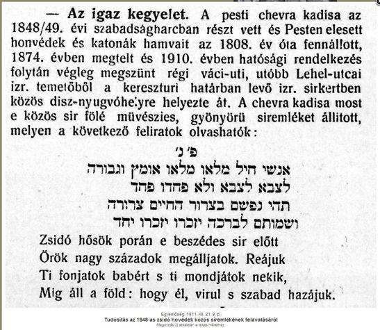 tudósítás Lajta_ 1848-49 -es síremlékről