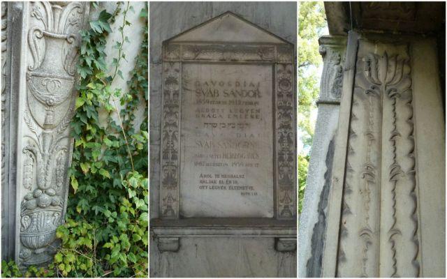 Gavosdiai Sváb Sándor mauzóleum, ornamentika