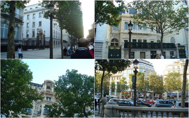 Champs Elysées házai