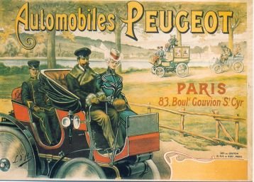 korabeli plakát- Automobiles Peugeot