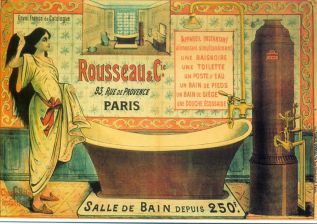 korabeli plakát -fürdőkád reklám