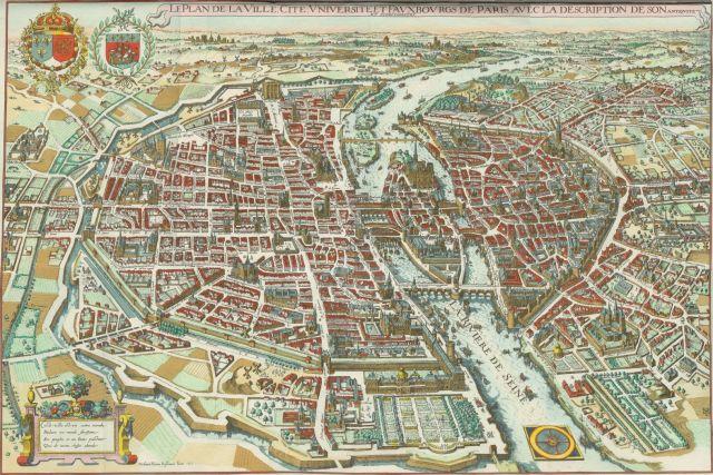 map of paris 1615