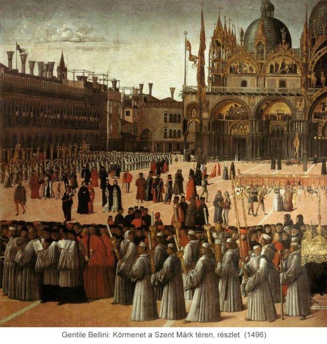 Gentile_Bellini, Körmenet a Szent Márk téren, 1496, részlet_02
