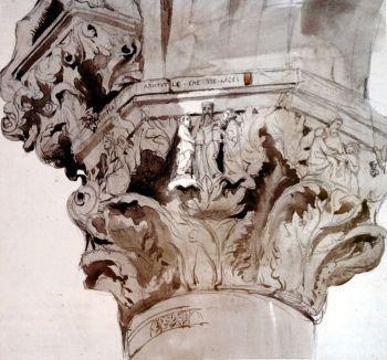 Oszlopfejezet John Ruskin Capital 36 of the Ducal Palace