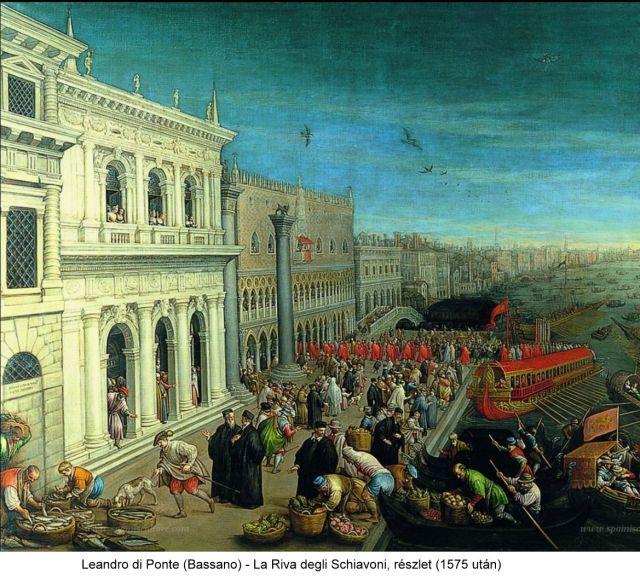 la riva degli Schiavoni, részlet 2-Bassano (1575 után)