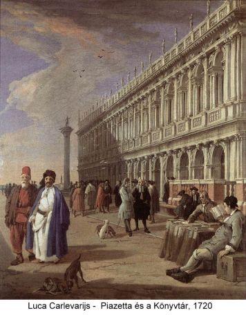 luca carlevarijs la piazetta e la libreria 1720