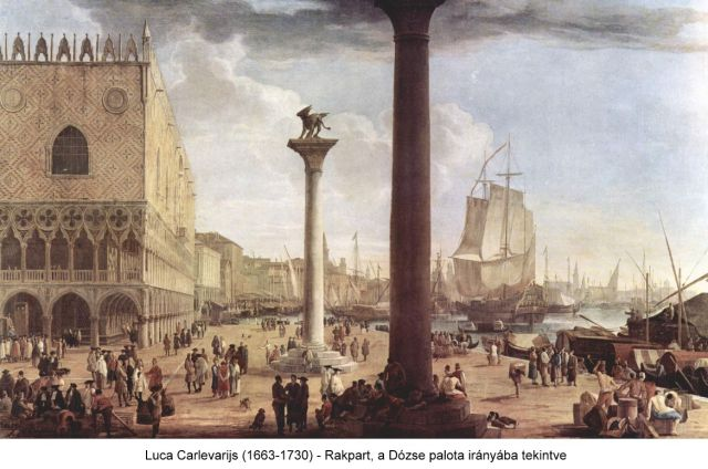 Luca_Carlevarijs(1663-1730)- The Wharf, Looking toward the Doge's Palace